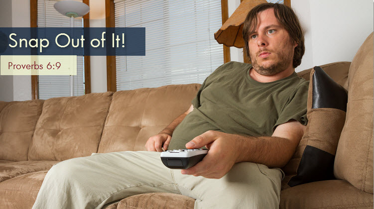 Man Binge Watching on Couch